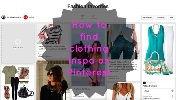 How to find clothing Inspo on Pinterest