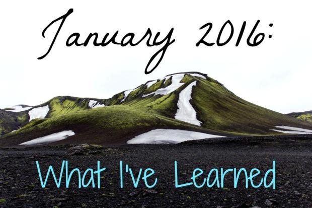 January 2016 Learned
