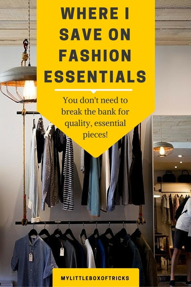 Save on Fashion Essentials